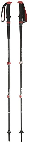 Black Diamond Wander Trekkingstock Trail Pro Shock Wanderstöcke, Schwarz/Rot, 68-140 cm