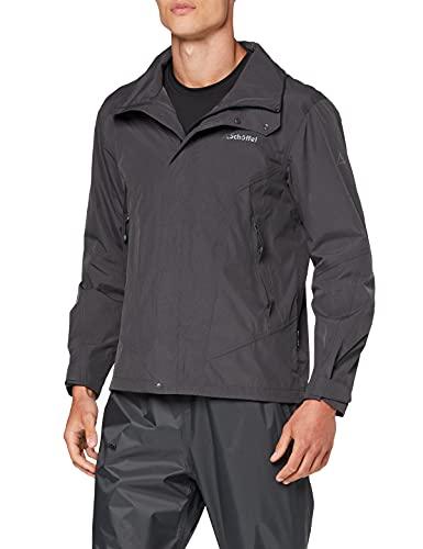 Schöffel Jacket Easy M3, wasser- und winddichte Allwetterjacke für Männer, leichte und atmungsaktive Herren Regenjacke Herren, asphalt, 48
