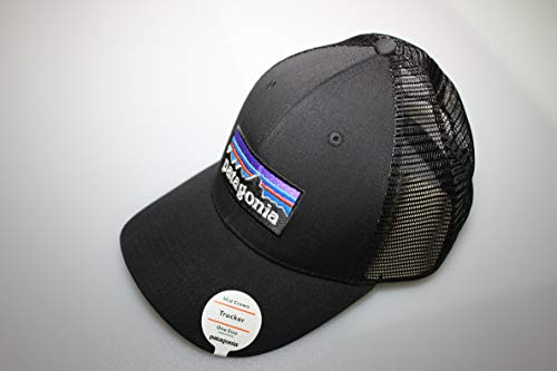 Patagonia Uni P-6 Logo LoPro Trucker Hat, Black, One size, 38016-BLK-ALL