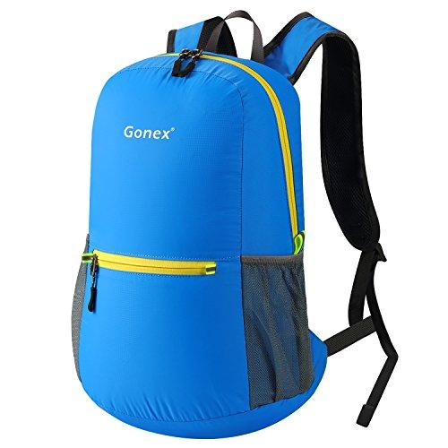 Gonex 20L Leichter Tagesrucksack, Unisex Faltbarer Rucksack für Outdoor Wandern Reisen (Blau)