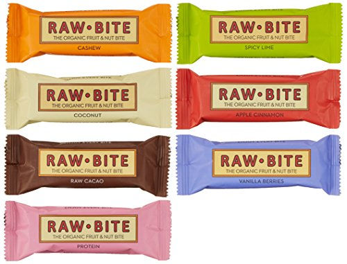 Raw Bite Rohkost (7 Riegel), Mix- Paket, 1er Pack (1 x 350 g)