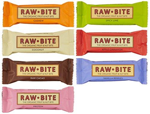 Raw Bite Rohkost (7 Riegel), Mix- Paket, 1er Pack (1 x 350 g)